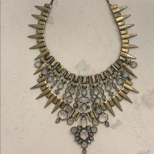 Kendra Scott Antique Brass Bib Necklace